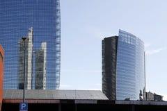 Niski światło na Milan linii horyzontu Obrazy Royalty Free