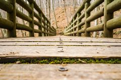 Niski widok footbridge Obrazy Royalty Free