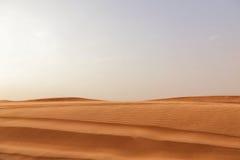 Niski widok pustynny piasek Zdjęcie Stock