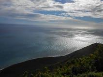 Niskie ziemie, morze i Chmurny niebo, fotografia royalty free