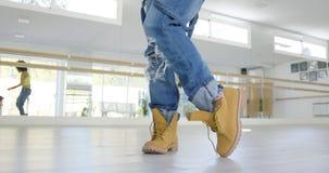 Niskiego kąta widok na tancerzy butach Obraz Royalty Free