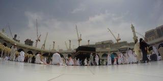 Niskiego kąta widoku Haram Szeroki meczet Obrazy Royalty Free