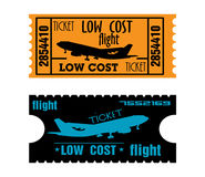 Niskiego kosztu lota bilety Zdjęcie Royalty Free