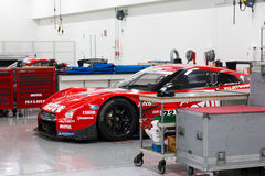 Nismo Race Car Workshop Royalty Free Stock Photography