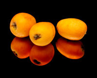 Nispero, Japanese medlar fruit Royalty Free Stock Images