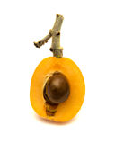 Nispero, Japanese medlar fruit isolated on white Royalty Free Stock Photos