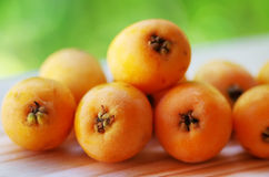 Nispero, Japanese medlar fruit Stock Images