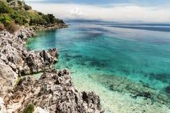 Nissaki-Strand, Korfu, Griechenland lizenzfreies stockfoto