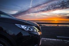 Nissan και ηλιοβασίλεμα Στοκ φωτογραφίες με δικαίωμα ελεύθερης χρήσης