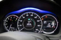 Nissan замечают приборную панель Стоковое Изображение