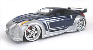 Nissan 2006 350Z. 2006 Nissan 350Z custom street rod, Joy Ride 1:64 scale die cast Stock Images