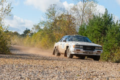 Nissan 240RS rally car Royalty Free Stock Photos