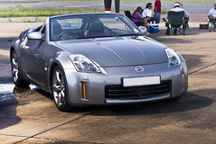 Nissan 350Z - Silver Convertible Royalty Free Stock Images