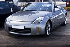 Nissan 350Z - Silver Convertible Royalty Free Stock Photography
