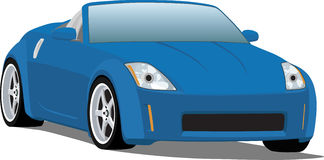 Nissan 350Z Sports Car Convertible. A Vector .eps illustration of a Nissan 350Z japanese convertible sports car Royalty Free Stock Image