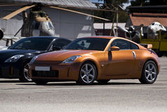 Nissan 350Z Z33 - Gold Royalty Free Stock Photos