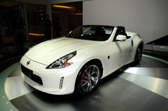 NISSAN 370Z Convertible sports car Stock Photography