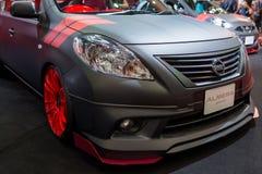 Nissan Almera na pokazie Obraz Royalty Free