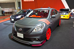 NISSAN ALMERA  show at the second Bangkok international auto sal Stock Image