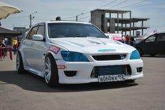 Nissan alteza strojeniowe rywalizacje na nastrajających samochodach w dryfie rds Fotografia Royalty Free