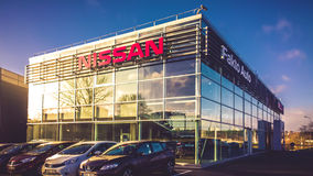 Nissan Authorized sales and service center Royalty Free Stock Photos