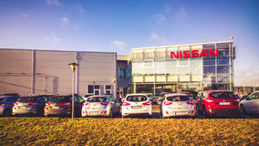 Nissan Authorized sales and service center Stock Photo