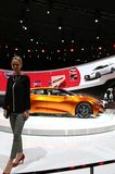 Nissan at the auto show Stock Image