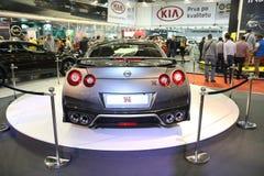 Nissan bij het Car Show van Belgrado Royalty-vrije Stock Afbeeldingen