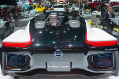 Nissan BladeGlider Concept 2015 på skärm Royaltyfri Bild