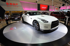 Nissan brancos gtr imagem de stock