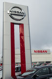 A Nissan car dealership Royalty Free Stock Photo