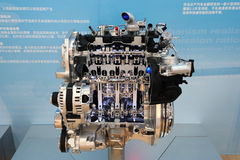 Nissan car engine MR16DDT Royalty Free Stock Images