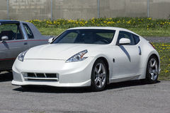 Nissan car. Picture of white nissan 350 z sport car during a car show Royalty Free Stock Photos