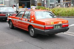 Nissan Cedric taxi Royalty Free Stock Image