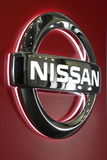 Nissan Company Logo Royalty-vrije Stock Afbeeldingen