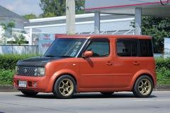 Nissan Cube privado, mini furgoneta Imágenes de archivo libres de regalías
