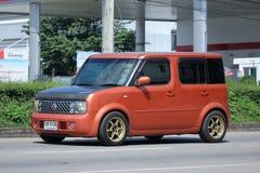 Nissan Cube privato, mini furgone Fotografie Stock Libere da Diritti