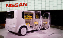NISSAN DENKI CUBE EV. At the Moscow International Automobile Salon, motor show (MIAS-2008) August 27 - September 7 Royalty Free Stock Photography