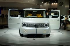 Nissan Denki Cube EV. Electric car. Moscow International Automobile Salon' 2008 will take place August 27 through September 7, 2008 in Moscow. For the first Stock Photo