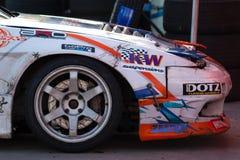 Nissan drift car detail Stock Images