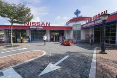 Nissan Driving School in Legoland Maleisië Redactie beeld royalty-vrije stock fotografie