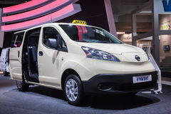 NISSAN e-NV200 Electric Taxi Royalty Free Stock Images