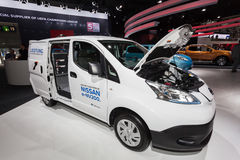 Nissan e-NV200 electric van Royalty Free Stock Images
