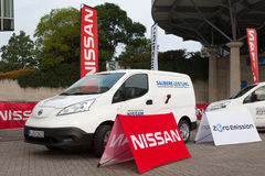 Nissan E-NV200 elektryczny Van Obraz Stock
