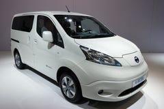 Nissan e-NV200 MPV bonde Fotografia de Stock Royalty Free
