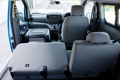 Nissan e-NV200 2014 rear seat Stock Image