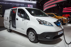 Nissan e-NV200 samochód dostawczy Fotografia Stock
