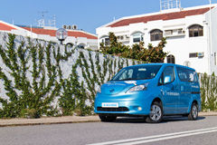 Nissan e-NV200 2014 Test Drive Royalty Free Stock Photo