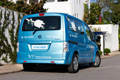 Nissan e-NV200 2014 Test Drive Royalty Free Stock Photos