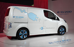 Nissan E-NV200 electric Van Stock Photo